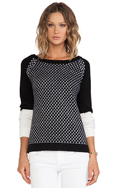 DUFFY Sweater in White & Black
