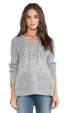 DUFFY Sweater in Potash & Fog Marl