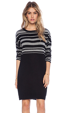 DUFFY Sweater Dress in Fog & Black