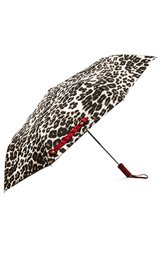 Diane von Furstenberg Snow Leopard Umbrella in Vintage Natural Leopard