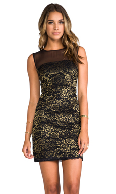 Diane von Furstenberg Nisha Dress in Black/Gold