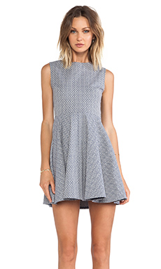 Diane von Furstenberg Jeannie Dress in Blue/Cream
