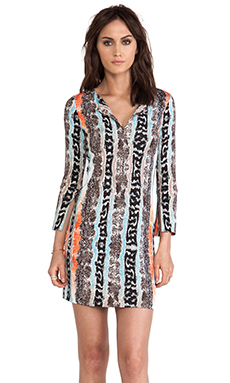 Diane von Furstenberg New Reina Dress in Oasis Snake Multi