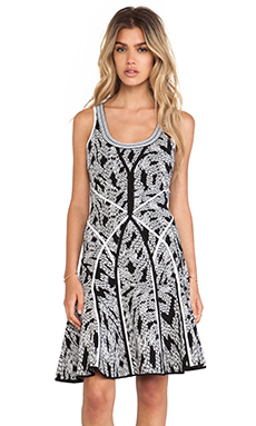 Diane von Furstenberg Ilsa Tank Dress in Panther Lace Black