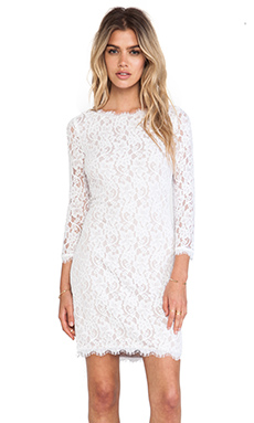 Diane von Furstenberg Colleen Lace Dress in White
