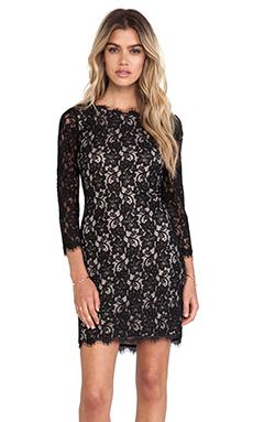 Diane von Furstenberg Colleen Lace Dress in Black