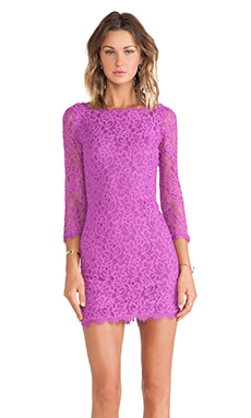 Diane von Furstenberg Zarita Lace Dress in Oriental Iris