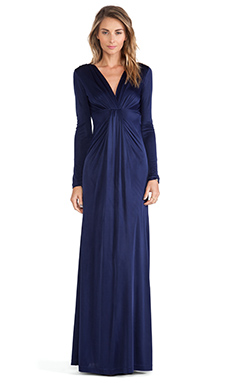 Diane von Furstenberg V Neck Gown in Ink