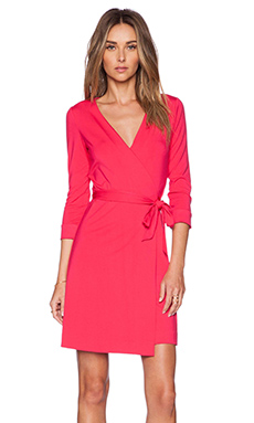 Diane von Furstenberg New Julian Two Mini Dress in Fuchsia Berry