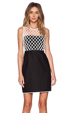 Diane von Furstenberg Leonora Dress in Black & White