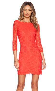Diane von Furstenberg Zarita Dress in Hot Coral