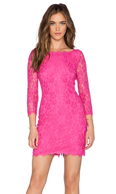 Diane von Furstenberg Zarita Dress in Hot Rose