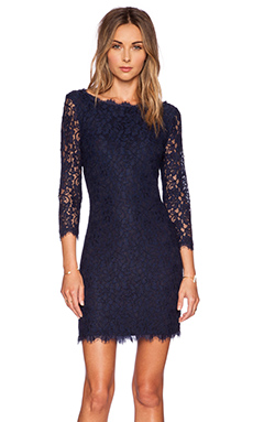 Diane von Furstenberg Zarita Dress in Midnight