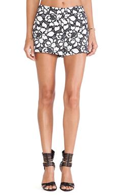 Diane von Furstenberg Napoli Shorts in White & Black