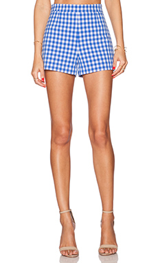 Diane von Furstenberg Fausta Hot Short in Blue Riviera & White