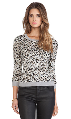 Diane von Furstenberg Jacquard Sweater in Leopard Dance Small