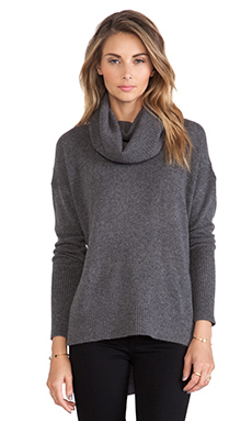 Diane von Furstenberg Ahiga Turtleneck Sweater in Medium Grey