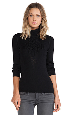 Diane von Furstenberg Turtleneck Sweater in Black
