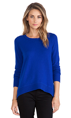 Diane von Furstenberg Solid Sweater in Cosmic Cobalt