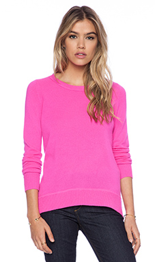 Diane von Furstenberg Solid Sweater in Fuchsia Fever