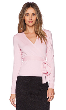 Diane von Furstenberg Ballerina Wrap Sweater in Pink Ice