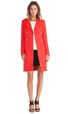 Diane von Furstenberg Mirabella Coat in Poppy