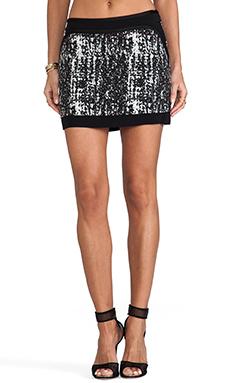 Diane von Furstenberg Chloette Maze Skirt in Black/Cream