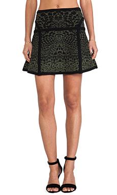 Diane von Furstenberg Flote Skirt in Black & Olive