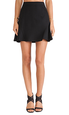 Diane von Furstenberg Flared Mini Skirt in Black