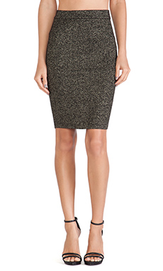 Diane von Furstenberg Pencil Skirt in Black & Gold