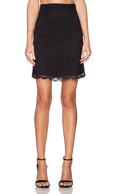 Diane von Furstenberg Eliza Lace Skirt in Black