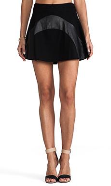 Diane von Furstenberg Tristana Leather Skirt in Black
