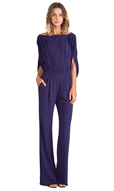 Diane von Furstenberg Dezi Jumpsuit in Purple Haze