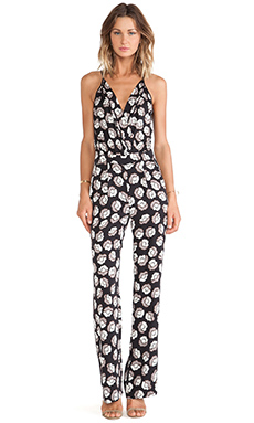 Diane von Furstenberg Shancy Jumpsuit in Ballet Rose & New Black
