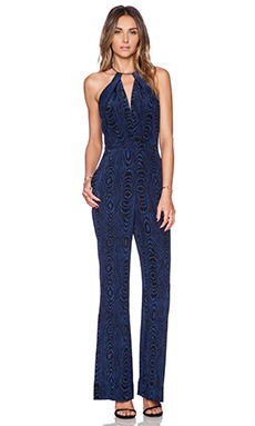 Diane von Furstenberg Ireland Jumpsuit in Grain Shadow Blue