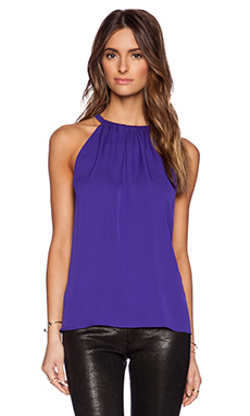 Diane von Furstenberg Pania Top in Chrome Purple