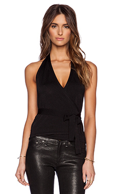 Diane von Furstenberg Iggy Top in Black