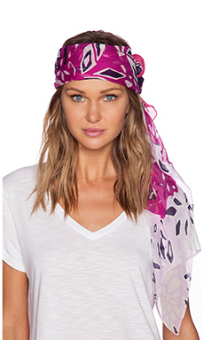 Diane von Furstenberg Flower Paisley Scarf in Hot Rose
