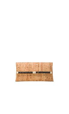 Diane von Furstenberg Envelope Clutch in Natural