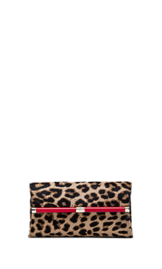 Diane von Furstenberg Haircalf Envelope Clutch in Leopard