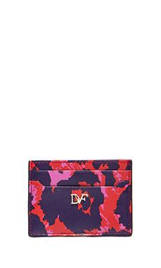 Diane von Furstenberg Heritage Print Tuxedo Card Case in Vintage Leopard