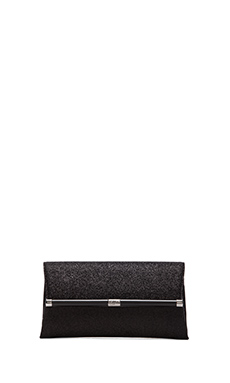 Diane von Furstenberg Glitterati Envelope Clutch in Deep Black