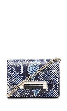 Diane von Furstenberg Heritage Print Mini Crossbody in Blue Python