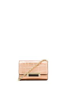 Diane von Furstenberg Croc Embossed Micro Mini Bag in Rose Gold