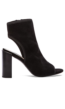 Diane von Furstenberg Panina Heel in Black Stretch Kid