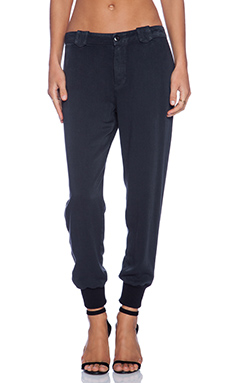 DWP Frida Chino Jogger in Aged Black