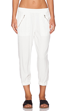 DWP Brody Crop Jogger in Aged White