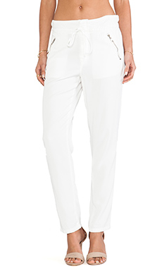 DWP Cameron Paper Bag Pant in Aged White