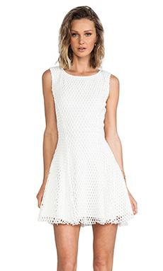 Elizabeth and James Weston Dress in White & White