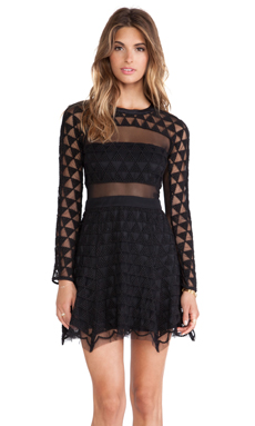Elizabeth and James Valencia Dress in Black